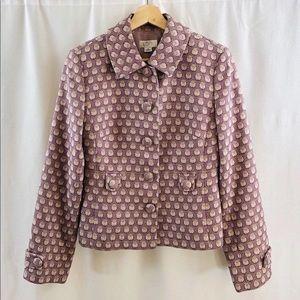 Loft Tweed Blazer Jacket Button Jacquard